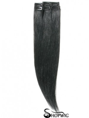 Amazing Black Straight Remy Human Hair Clip In Hair Extensions
