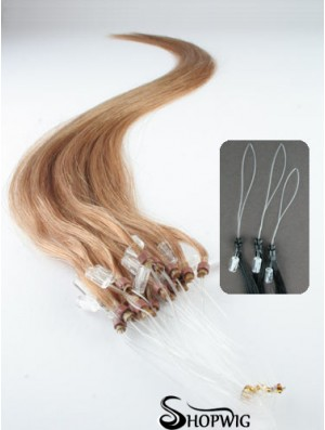 Popular Blonde Straight Micro Loop Ring Hair Extensions