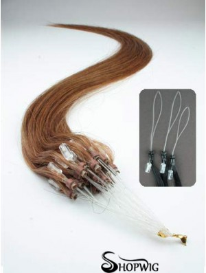 Discount Auburn Straight Micro Loop Ring Hair Extensions