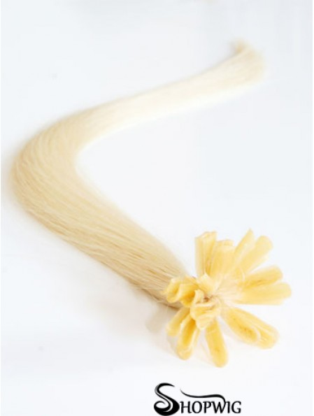 Blonde Straight Gorgeous Nail/U Tip Hair Extensions