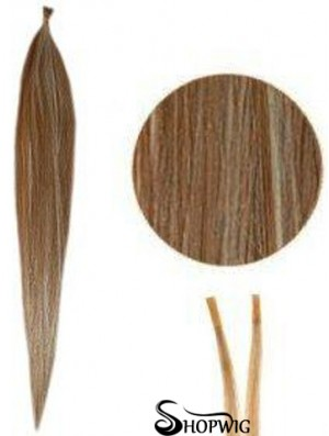 Brown Straight Stick/I Tip Hair Extensions