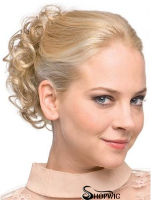 Wrap Around Pony Hairpeice With Synthetic Blonde Color