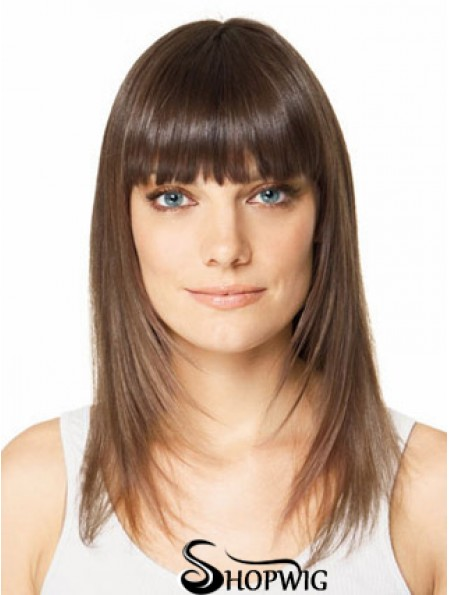 Clip In Hairpieces For Short Hair Brown Color Straight Style