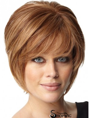 Short Bob Hairstyles Remy Human Capless Bobs Cut Auburn Color