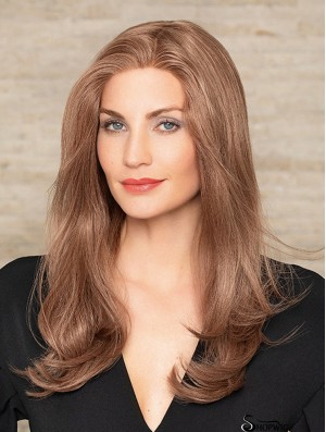 Auburn Long 18 inch Without Bangs Durable Human Hair Wigs