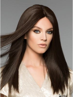 16 inch Long Black Remy Hair Wigs