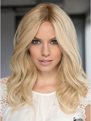 15 inch Long 100% Hand-tied Platinum Blonde Human Hair Sale