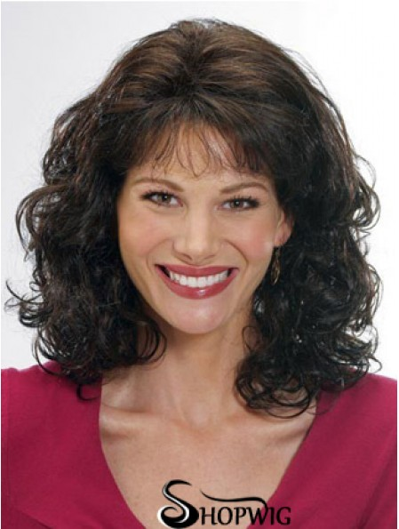 Classic Cut Wig With Bangs Remy Human Capless Shoulder Length