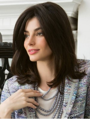 Mono Top Wigs Cheap 100% Hand Tied Wavy Style Layered Cut