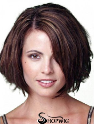 Blonde Bob Wigs Chin Length Lace Front Bobs Cut Straight Style