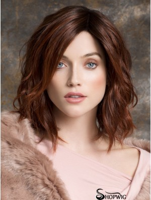 Bob Style Wigs Remy Human Curly Style Auburn Color Bobs Cut