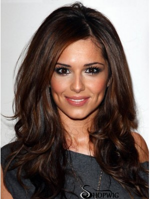 Wigs Cheryl Cole Remy Human Layered Cut Long Length Monofilament