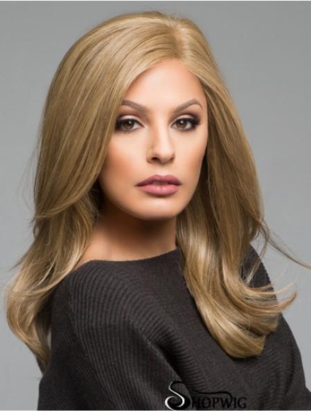 "Layered Long Brown Straight 16"" Popular Human Hair Wigs"