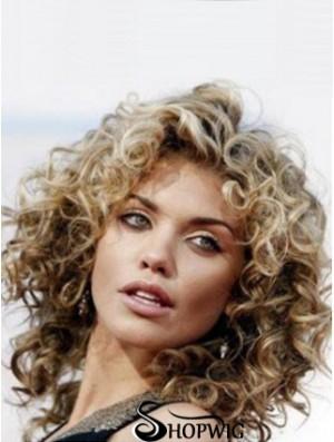Human Hair Wigs Shoulder Length Brown Color Classic Cut