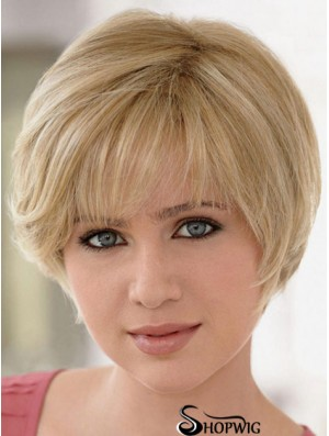 Lace Front Wigs UK Straight Style Blonde Color Layered Cut