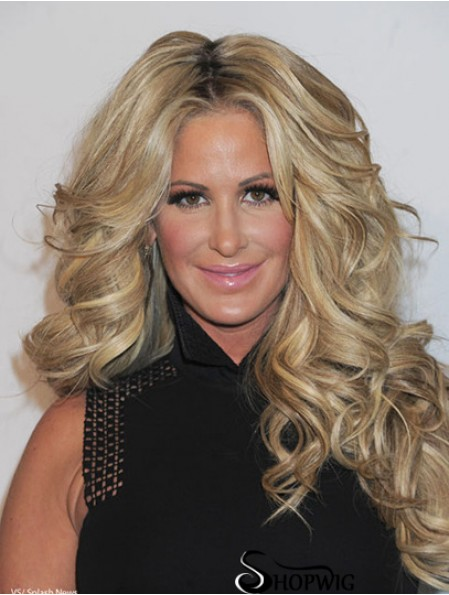 Pop Wigs By Kim Zolciak Curly Style Long Length Blonde Color
