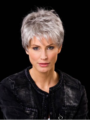 Short Lace Wigs 100% Hand Tied Cropped Length Boycuts