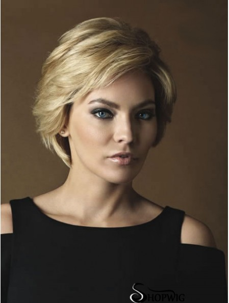 Lace Front Wigs Cheap Layered Cut Straight Style Short Length