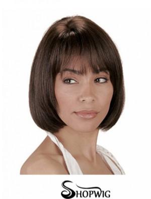 Human Hair Bobs Bobs Cut Straight Style Chin Length