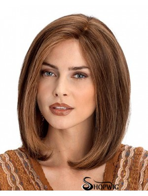 Lace Front Remy Human Shoulder Straight Auburn Bob Wig