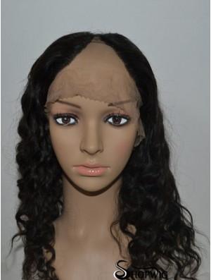 Online Black Long Curly U Part Wig