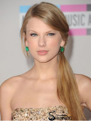 Lace Front Without Bangs Straight Long Blonde Style Taylor Swift Wigs