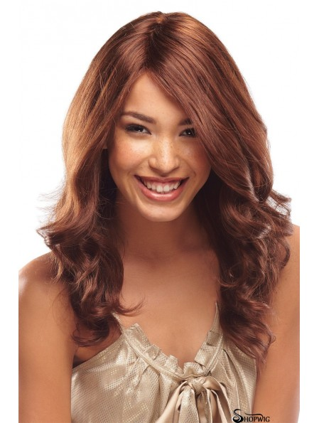 18 inch Stylish Auburn Without Bangs Monofilament Wigs