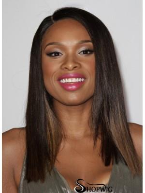 Jennifer Hudson Wigs Indian Remy Full Lace Shoulder Length Brown Color