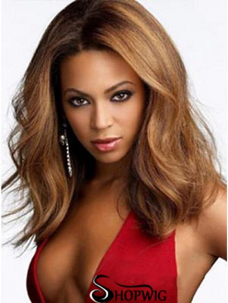 Sleek Wig Fashion Syn Beyonce Wig Auburn Color Shoulder Length