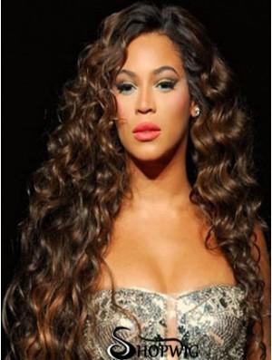 Brazilian Capless Curly Long Auburn Beyonce Curli Remi Hair