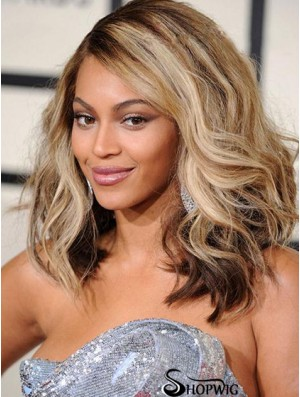 Shoulder Length Wavy Layered Lace Front 14 inch Fabulous Beyonce Wigs