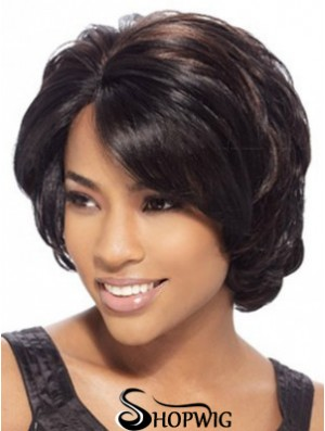 Wavy Layered Chin Length Brown Trendy Lace Front Wigs