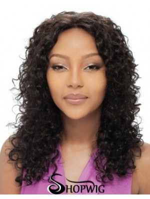 Long Black Curly Without Bangs Amazing African American Wigs