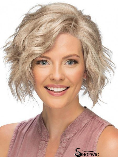 Lace Front Short Blonde Curly Affordable Classic Wigs