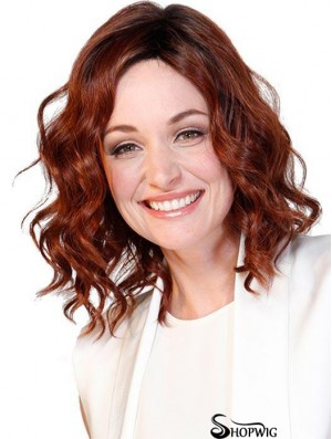 "Layered 12"" Shoulder Length Curly Best Medium Wigs"