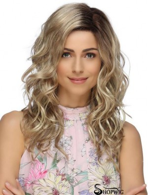 Long Top Blonde Synthetic Layered Lace Front Wigs