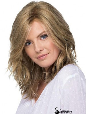 Layered 14 inch Shoulder Length Wavy New Medium Wigs