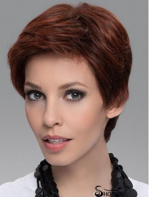 "4"" Straight Durable Boycuts 100% Hand-tied Synthetic Wigs"