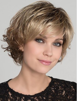 Blonde Ideal Wavy Short Synthetic Bob Wigs