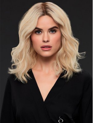 Layered 14 inch Shoulder Length Wavy Style Medium Wigs
