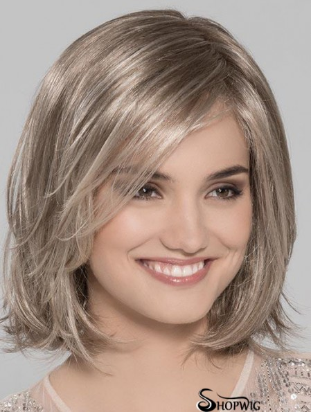Blonde Discount Wavy Chin Length Synthetic Bob Wigs