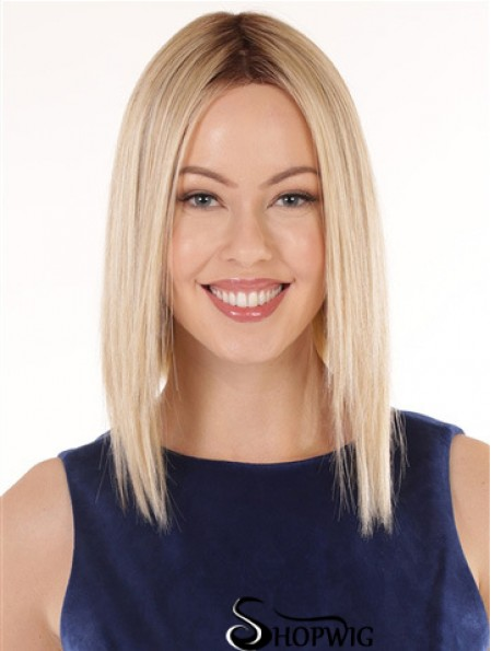 12 inch Shoulder Length Hairstyles Blonde Wavy Bob Wigs