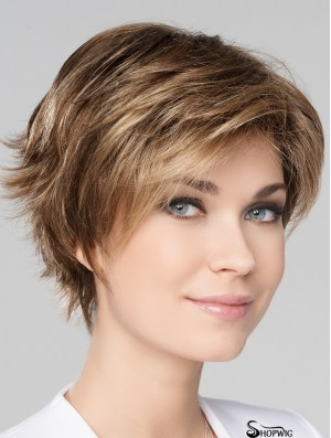 "Blonde 8"" Boycuts Short New Monofilament Wigs"