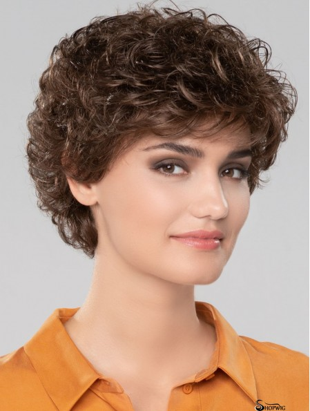 Curly Brown Short 8 inch Gorgeous Classic Wigs