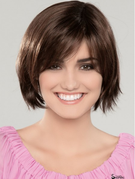 10 inch Chin Length Brown Straight Cheapest Bob Wigs