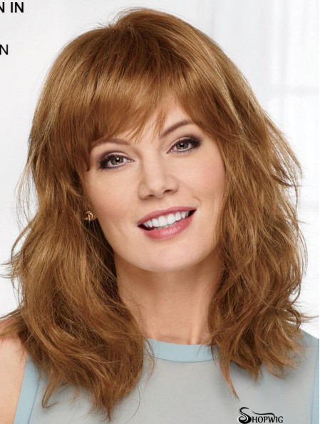 Auburn 14 inch With Bangs High Quality Capless Synthetic Wigs