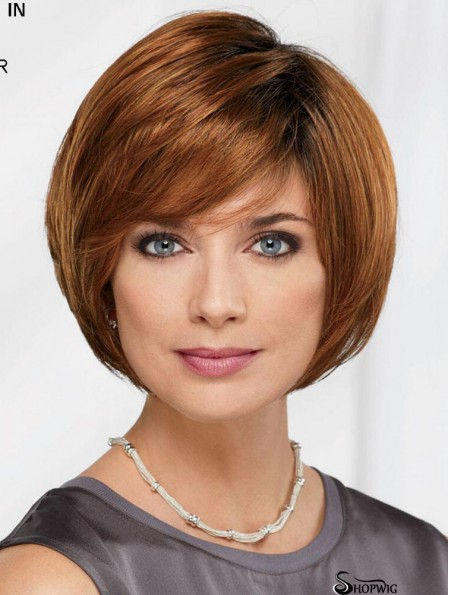 10 inch Chin Length Auburn Straight Comfortable Bob Wigs