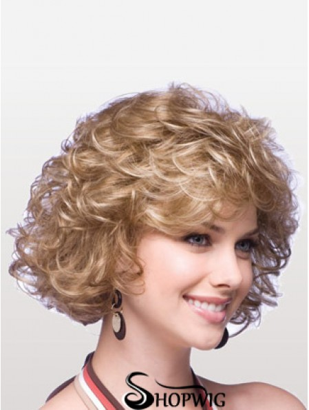 Synthetic Cheap Wigs With Capless Layered Cuts Chin Length Blonde Color