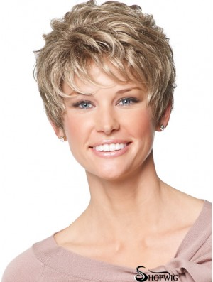 Lace Front Synthetic Wigs With Capless Wavy Style Short Length
