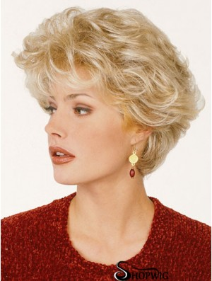 Synthetic Hair Classic Cut Blonde Color Short Length